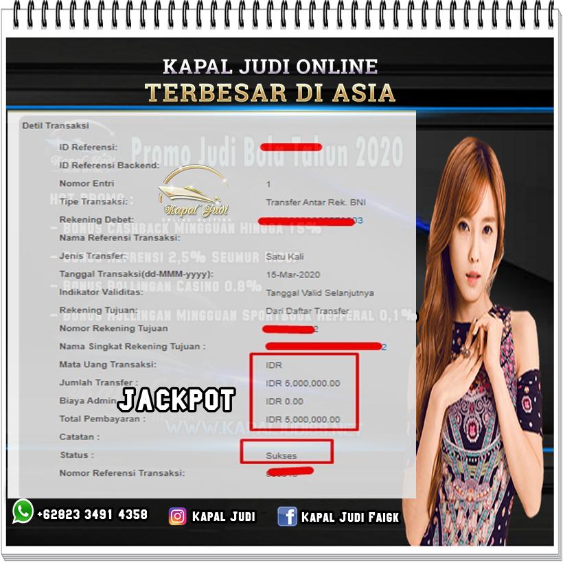 Info Kemenangan KapalJudi Di Casino 15-16 Maret 2020