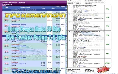 Info Kemenangan KapalJudi Dalam Bermain Sportbook 07 Maret 2020