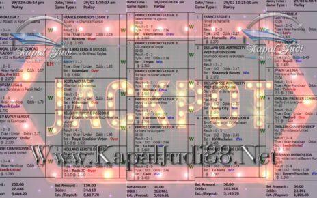 Jackpot Di KapalJudi Mix Parlay Sportbook 01 Maret 2020