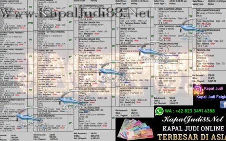 Info Kemenangan KapalJudi Mix Parlay 11 Maret 2020
