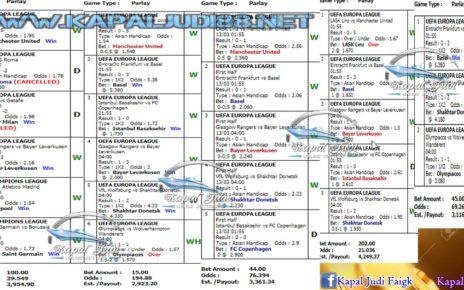 Info Kemenangan KapalJudi Mix Parlay 13 Maret 2020