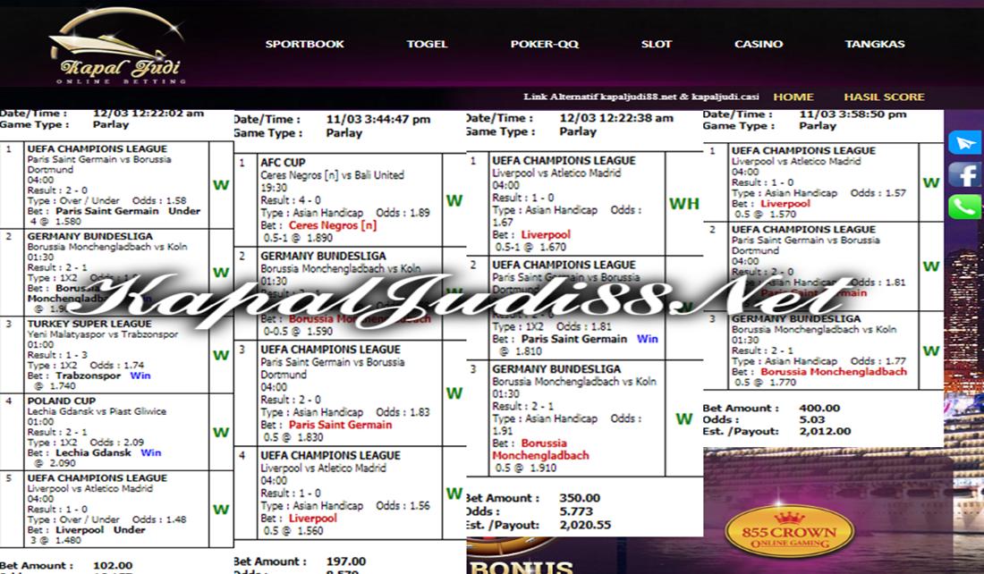 Info Kemenangan KapalJudi Mix Parlay Bagian 2