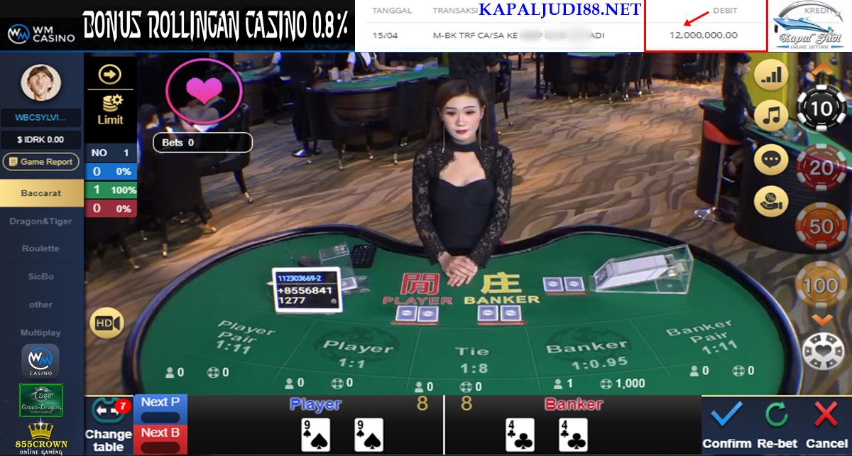 WM Casino Sedang Hoki Bermain Bacarat