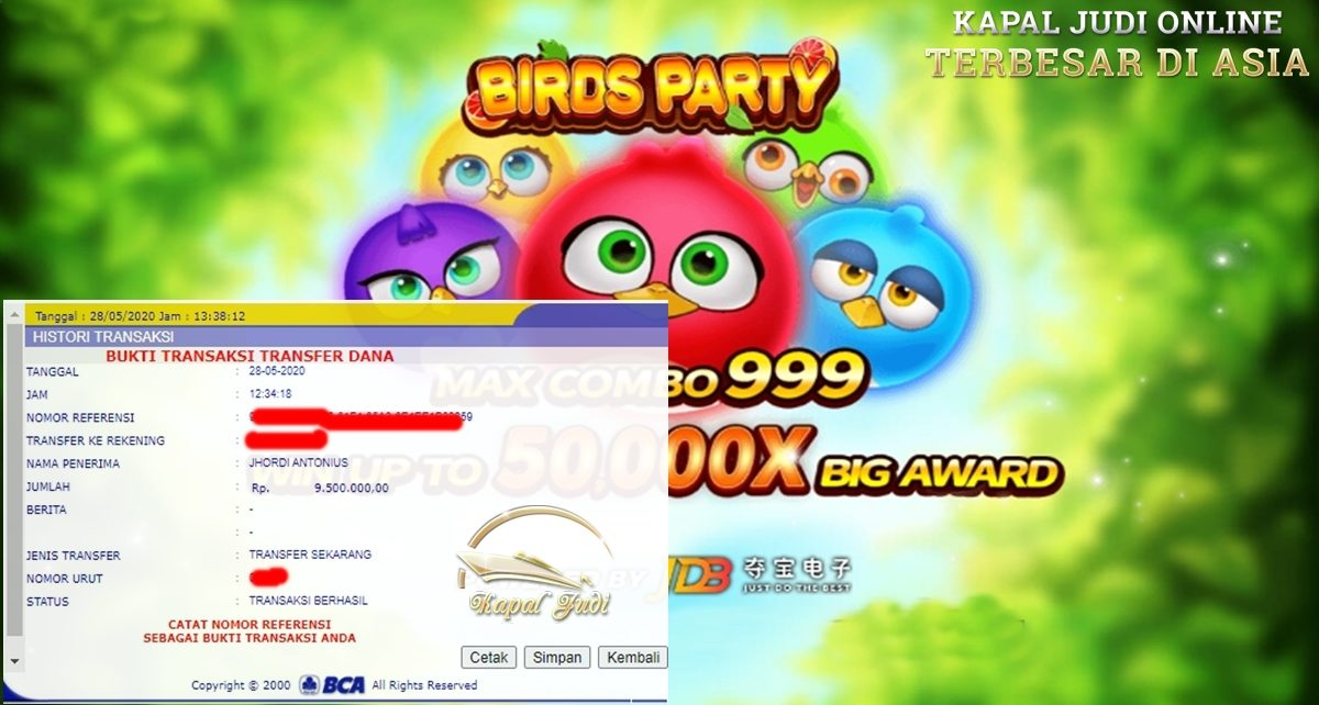Info Kemenangan Bermain Slot Birds Party
