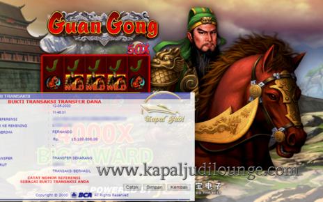 Info Kemenangan Bermain Slot JDB Guan Gong