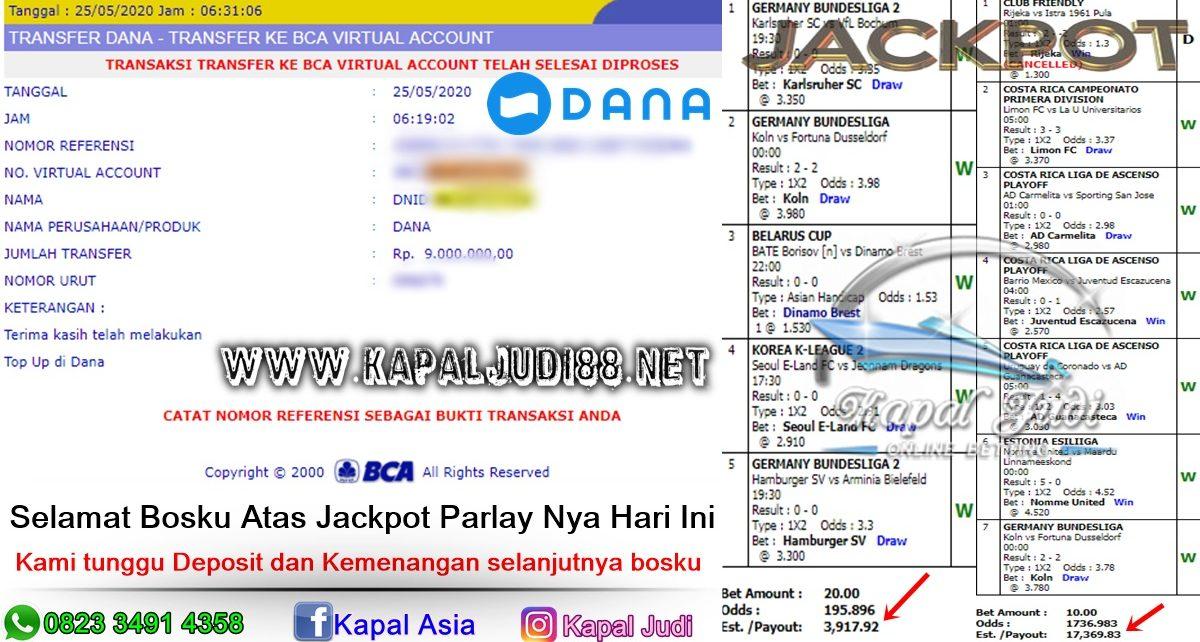 Jackpot Parlay Paus 25 Mei 2020 KapalJudi
