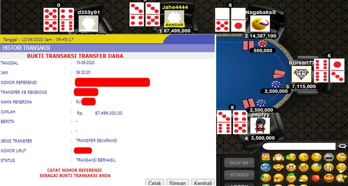 Info Kemenangan Bermain Poker 13 Juni 2020