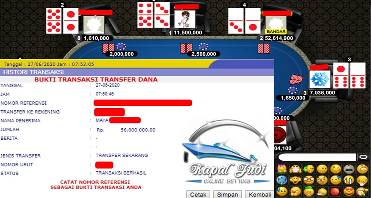 Info Kemenangan Bermain Poker 27 Juni 2020