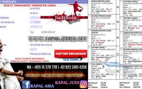Jackpot Mix Parlay 20 Juni 2020 KapalJudi