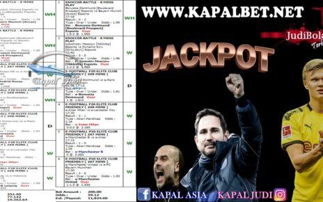 Jackpot Mix Parlay 26 Juni 2020 Kapaljudi