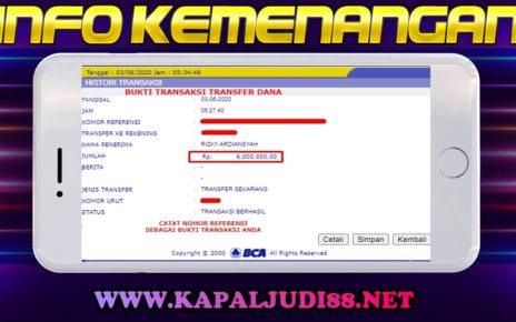 Info Kemenangan Terbesar KapalJudi 3/6/2020