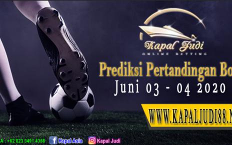 Prediksi Pertandingan Bola 03-04 Juni 2020 KapalJudi