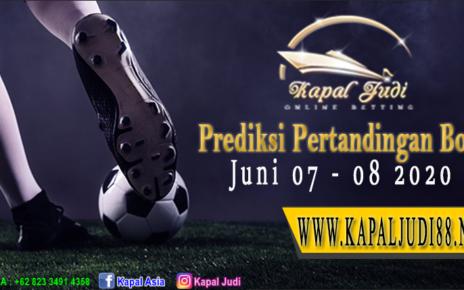 Prediksi Pertandingan Bola 07-08 Juni 2020 KapalJudi