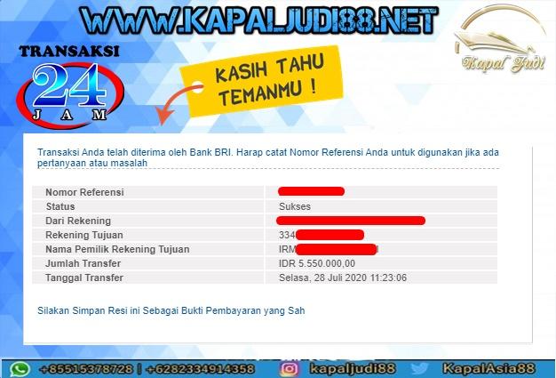 Info Kemenangan 28 Juli 2020 Kapal Judi