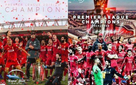 Liverpool Angkat Trofi Juara Premier League