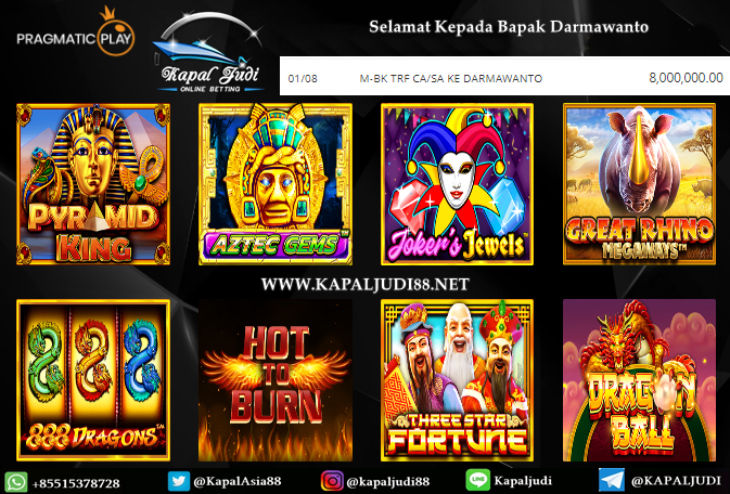 Info Kemenangan Terbesar KapalJudi Permainan Slot Pragmatic Play