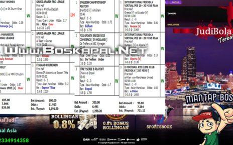 Info Kemenangan Bermain Mix Parlay 05 Agustus 2020