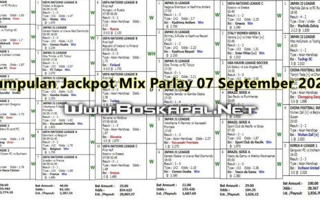 Kumpulan Jackpot Mix Parlay 07 September 2020 KapalJudi