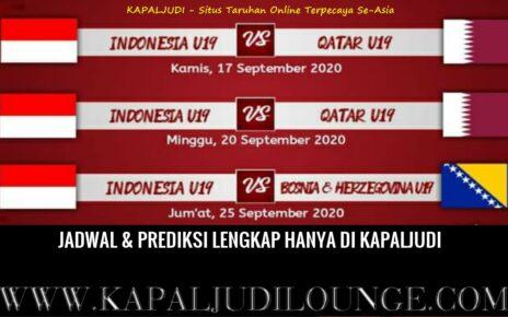 Jadwal & Prediksi Timnas Indonesia U-19 vs Qatar Malam Ini