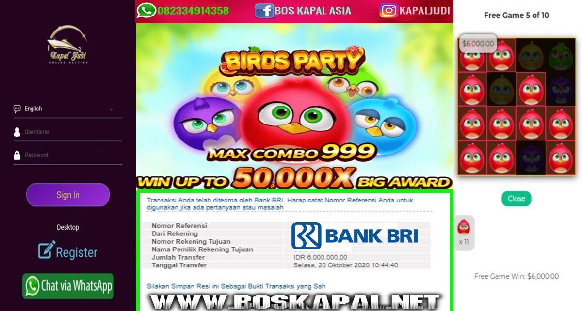 Info Kemenangan Slot JDB: Birds Party