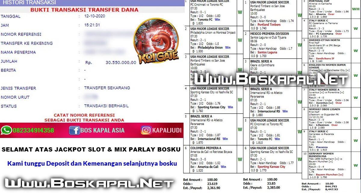 Info Kemenangan: Jackpot Slot & Mix Parlay
