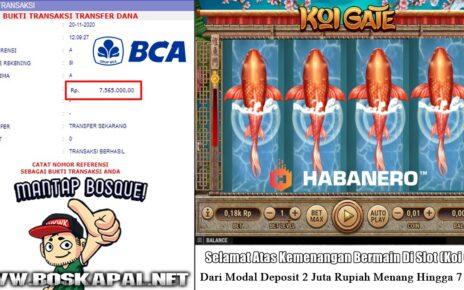 Jackpot Slot Habanero: Koi Gate 20 November 2020