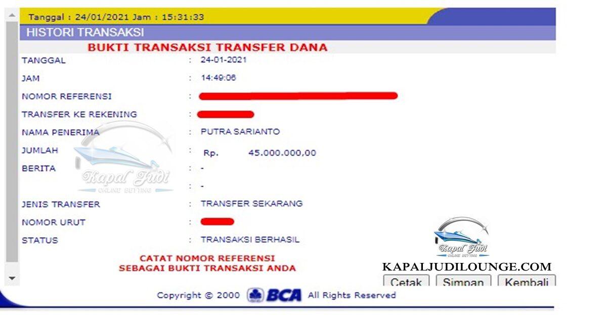 Info Kemenangan KapalJudi 24 Januari 2021