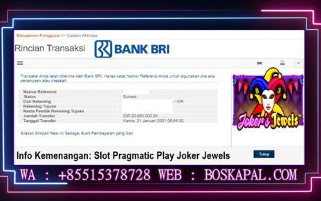 Info Kemenangan: Slot Pragmatic Play Joker Jewels