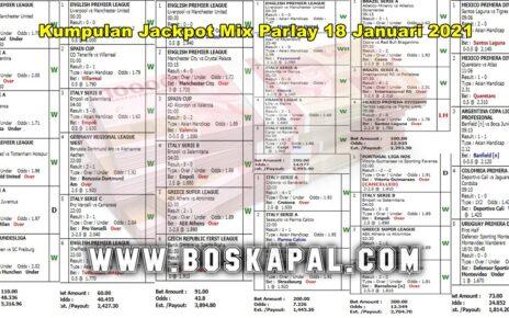 Kumpulan Jackpot Mix Parlay 18 Januari 2021