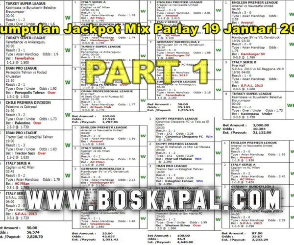 Jackpot Mix Parlay 19 Januari 2021 Part 1