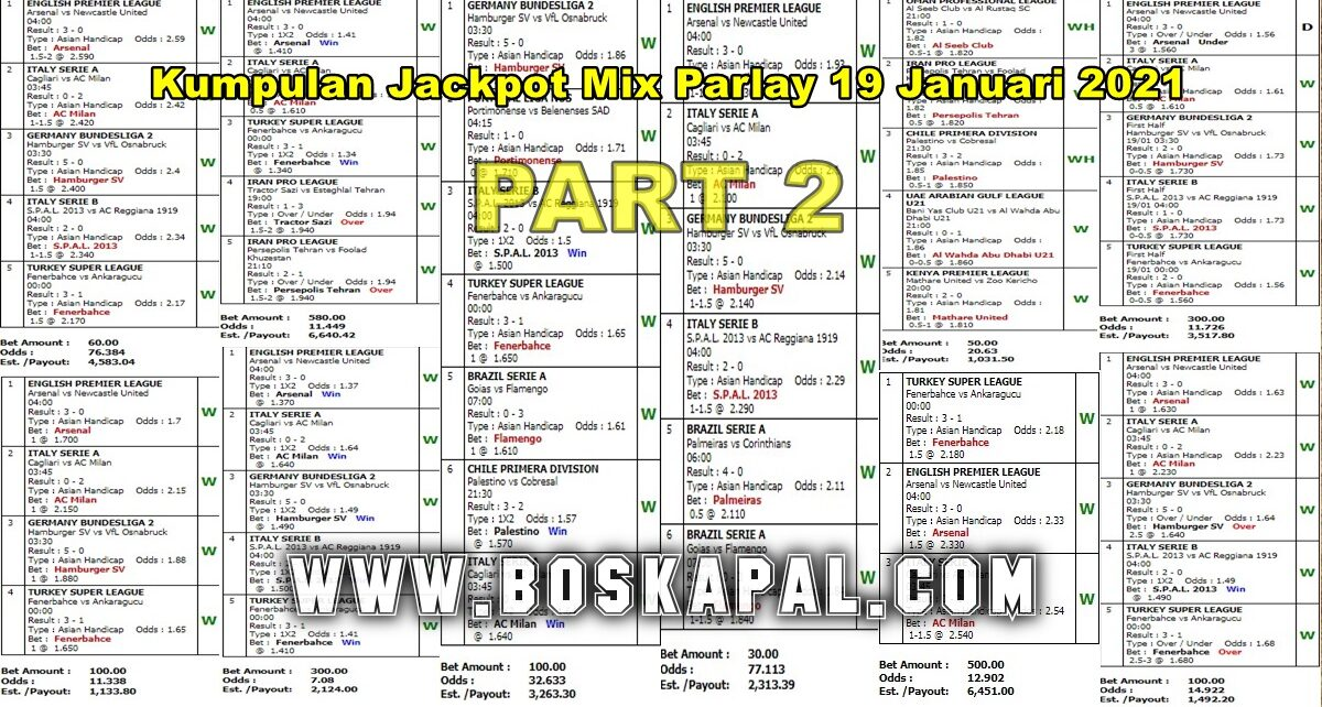Jackpot Mix Parlay 19 Januari 2021 Part 2