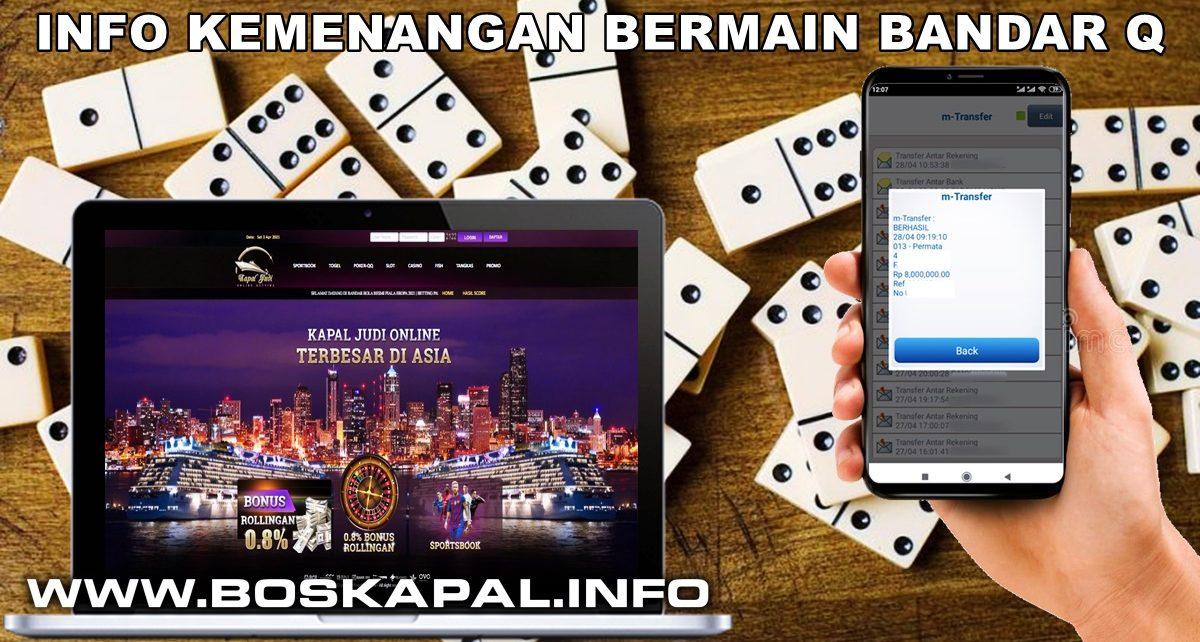 Info Kemenangan Bermain BandarQ 28 April 2021