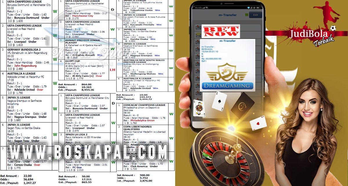 Info Kemenangan Bermain Mix Parlay Dan Casino 15 April 2021