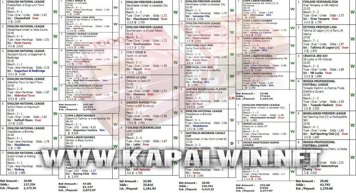 Info Kemenangan Jackpot Mix Parlay 12 Mei 2021