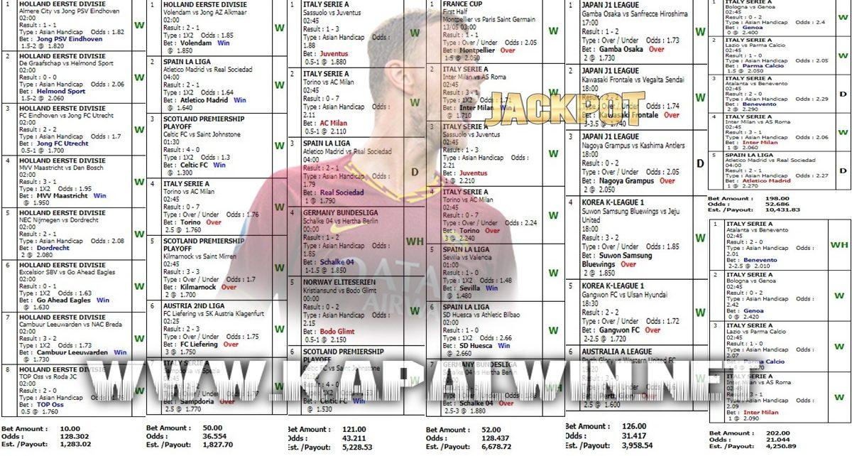 Info Kemenangan Jackpot Mix Parlay 13 Mei 2021