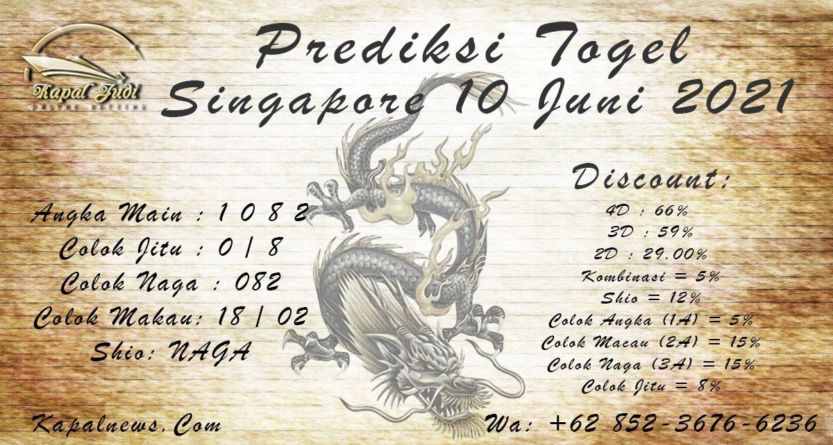 PREDIKSI SINGAPORE 10 JUNI 2021 KAPALJUDI