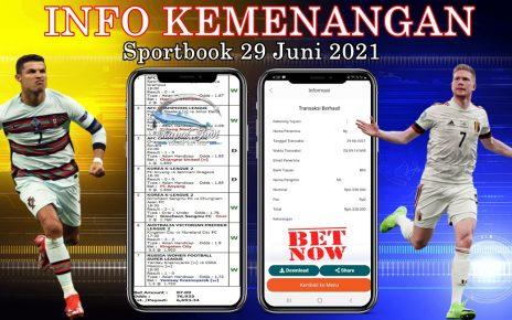 Info Kemenangan Sportbook 29 Juni 2021