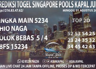 PREDIKSI TOGEL SINGAPORE POOLS KAPAL JUDI MINGGU 01 AGUSTUS 2021