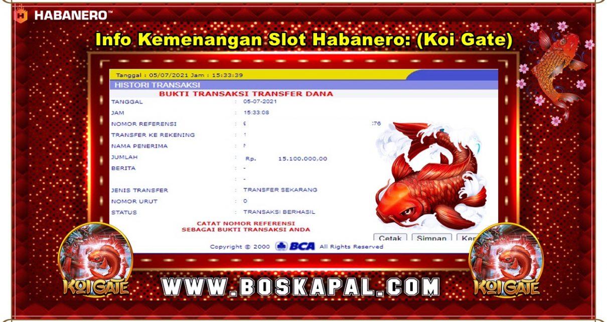 Info Kemenangan Slot Habanero: Koi Gate