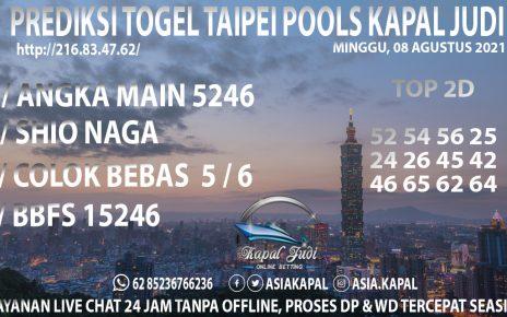 PREDIKSI TOGEL TAIPEI POOLS KAPAL JUDI MINGGU 08 AGUSTUS 2021