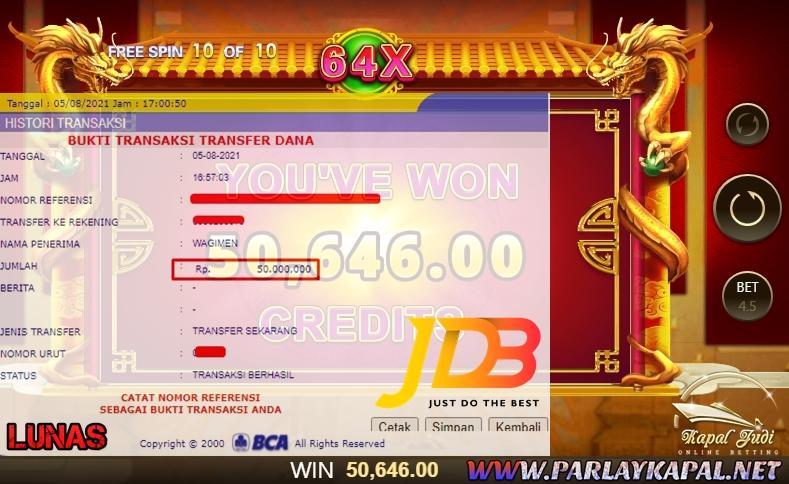 Info Kemenangan Bermain Slot JDB Lucky777