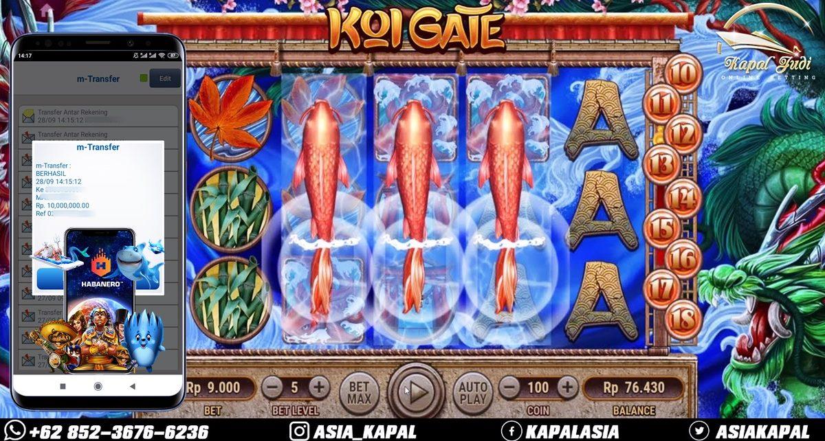 Info Kemenangan: Slot Koi Gate 28 September 2021
